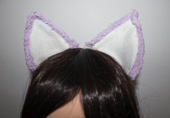 Lilac and White Soft Cat Ears