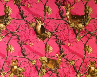 Realtree Pink Cotton Fabric! 5 Options! [Choose Your Cut Size]