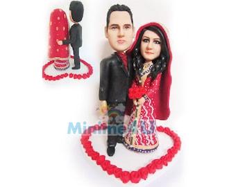 India wedding - handmade custom wedding cake topper  (Free Shipping Worldwide)