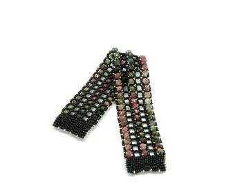 Tourmaline Right Angle Weave Bracelet
