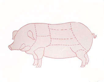 Pork Woodcut Poster