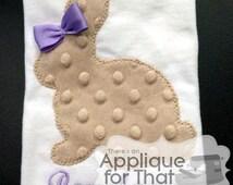 Vintage Stitch Bunny Applique Buy2 Get 1 Free