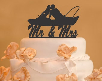 fishing wedding cake images fishing cake topper etsy 14289
