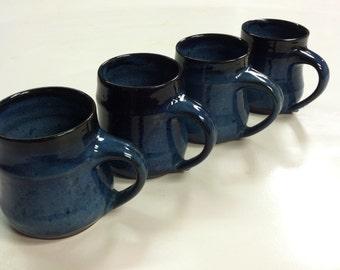handmade mugs, blue mugs, ceramic mugs, coffee mugs,