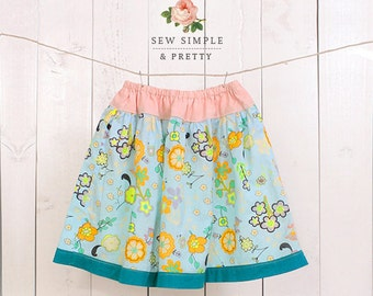 Girls skirt pattern pdf l Toddler ruffle skirt pattern l Easy children sewing patterns - 12 m to 12 years Mary skirt