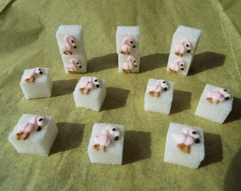 28 Pcs Decorated Sugar Cubes Flamingo Collection     Simply Darling