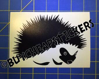 Hedgehog Decal/Sticker 4X6