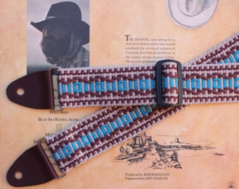 Guitar Strap,  Woven by Hand,  Southwest Colors, Mesas and Arroyos, Instrument Strap