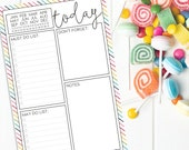 Daily Planner Notepad CANDY STRIPE CRUSH (Rainbow Stripes)
