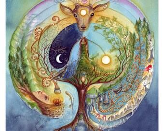 Deer Medicine A4 Art Print