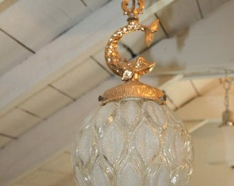 Vintage Gold Metal Fish Ceiling Globe Lamps