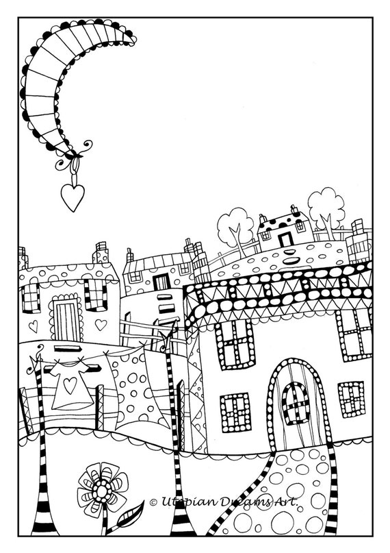 quirky houses coloring pages - photo#36