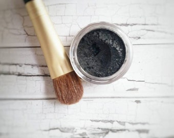 Organic Beauty - Black Pearl Eye Shadow - Black Eye Shadow - Eye Shadow For Smoky Eyes - Black Eyeliner - Mineral Makeup - Black Sparkle