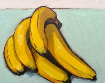 "Bananas, 5""x5"" archival print"