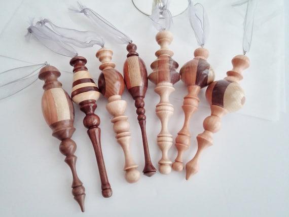 Handmade Wood Turned Christmas Ornaments Custom Made Order