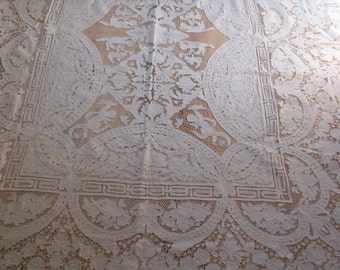 Vintage Needle Lace Table Cloth