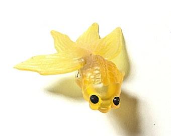 Yellow fish ring, goldfish ring