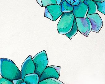 ORIGINAL Blue Succulents