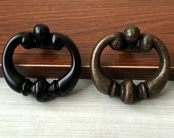 2.2u201c Dia Vintage Style Drop Ring Drawer Pull Handles Knob Pulls Dresser  Pulls Rustic Kitchen