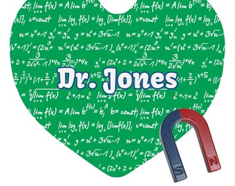 Equations Personalized Heart Fridge Magnet