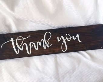 Thank You Sign - Wedding Photo Sign, Rustic Wedding Sign, Thank You Wedding, Photo Prop Sign, Wedding Photo Prop, Rustic Wedding Decor