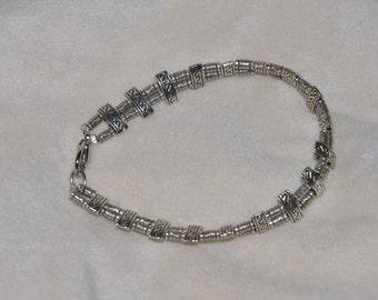 Brighton Inspired Silver Swirl Bracelet #872