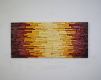 """wood wall art - """"AZTECHIE"""" - wooden wall art,  home decor, rustic , wooden art, wood art, modern wood art, wood wall hanging, contemporary"""