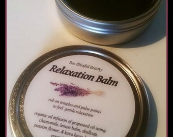 AROMATHERAPY RELAXATION BALM, Herbal Anxiety Relief, Handmade Natural Insomnia Relief, Aromatherapy Balm, Lavender and Chamomile Soothing