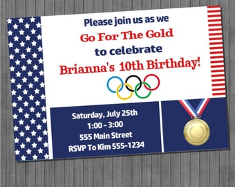 ON SALE!!  Olympic Party Invitation