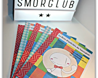 The activity of the Smorglub (coloring, games, customization) book