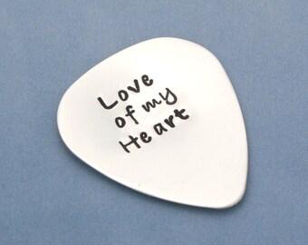 Boyfriend Gift, Personalized Guitar Pick, Sterling Silver Guitar Pick, Custom Pick, , Girlfriend Gift, Husband Gift, Musician