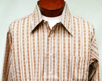Vtg Hathaway Crispy Striped Dress Shirt Mens XL 17 34 New Cotton Blend Deadstock Oxford Button Down
