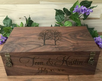 Wedding Wine Box, Double Wine Box, Wedding Gift, Anniversary Gift, Custom Wine Box, Wine Ceremony