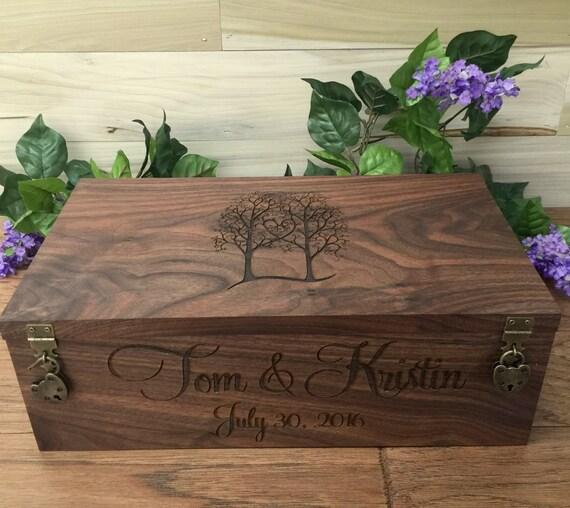 Wedding Gift Box Wine : Wedding Wine Box, Double Wine Box, Wedding Gift, Anniversary Gift ...