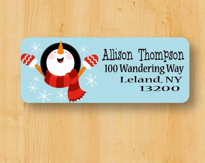 Holiday Labels | Holiday Rectangular Labels | Christmas Address Label | Address Label