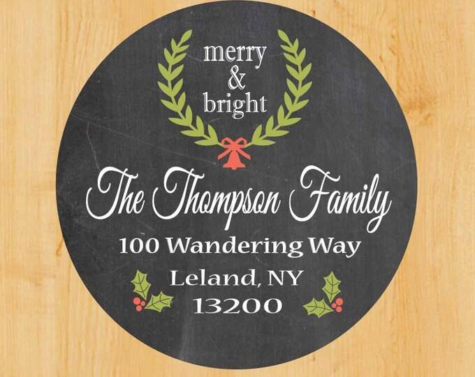 Holiday Envelope Address Labels | Return address label | Holiday Stickers | Christmas Labels | Christmas Address Labels | Holiday Labels
