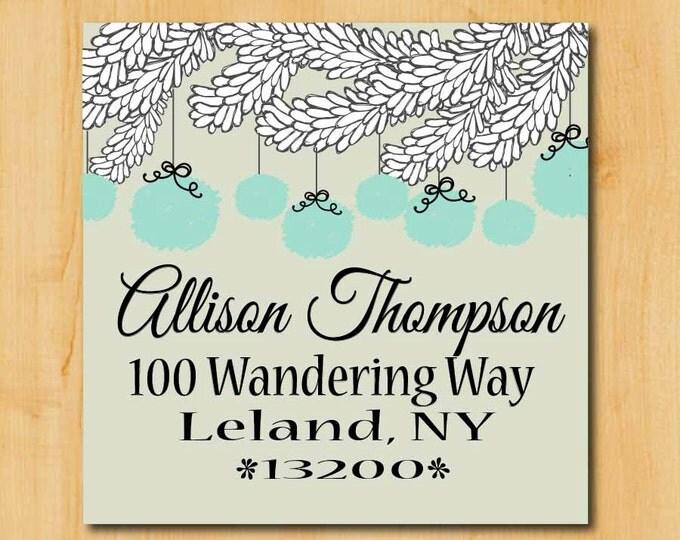 Holiday Address labels | Christmas Return Labels | 1.5 Inch Holiday Stickers | Holiday Labels | Winter Address Label | Square Address Label