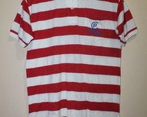 Vintage Polo Ralph Lauren CPRL 93 Stripe Shirt Stadium Crest Spell Out