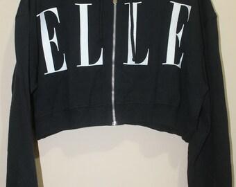Vintage ELLE Zip Hoodie Sweatshirt