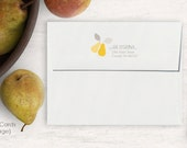 Personalized A2 Envelopes, Custom Return Address for Envelopes, Personalized Envelopes, Autumn Pear Personalized Envelopes