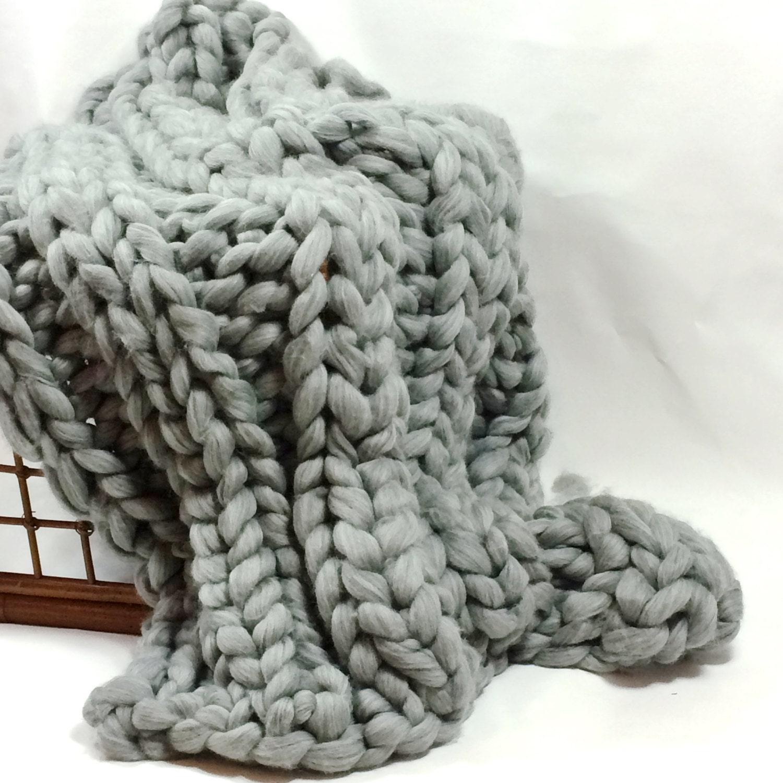 super chunky blanket 30x50 pure merino wool chunky knit. Black Bedroom Furniture Sets. Home Design Ideas