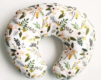 Nursing Pillow Cover Blush Sprigs and Blooms. Nursing Pillow. Nursing Pillow Cover. Minky Nursing Pillow Cover. Floral Nursing Pillow Cover.