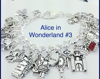 Alice in Wonderland bracelet jewelry Fairy Tales #3  by Uberjewelrydesigns
