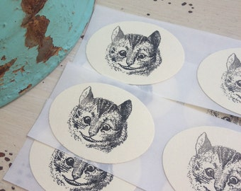 Cheshire Cat Stickers / Alice in Wonderland / Wedding / Tea Party / Birthday