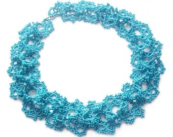 Gift|for|doctor gifts|for|wife Women necklace|for|her Turquoise necklace collar beadwork jewelry bridal necklace Winter wedding lace jewelry