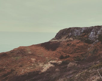 Giclee fine art print. Winter // Cornwall // Coast // Atmospheric // Sea // England // Print // Wall Art