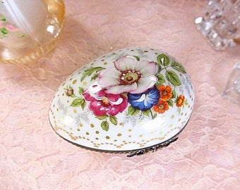 Vintage Limoges Egg Trinket Box