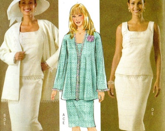 Butterick Fast & Easy Pattern 4447 JACKET TOP SKIRT Misses Sizes 8 10 12 14