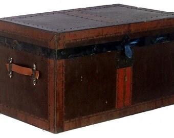 Antique Metal Desk Top Trunk