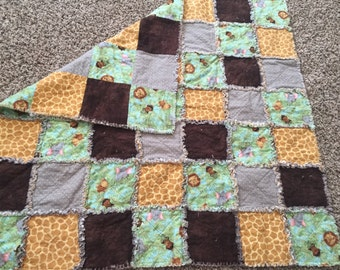 Jungle rag quilt